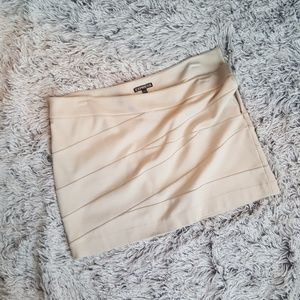 Light beige, stretch, express skirt